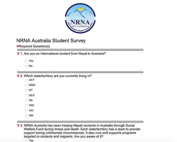 एनआरएन अष्ट्रेलियाले विद्यार्थी बारे माग्यो सुझाव - NepaliPage