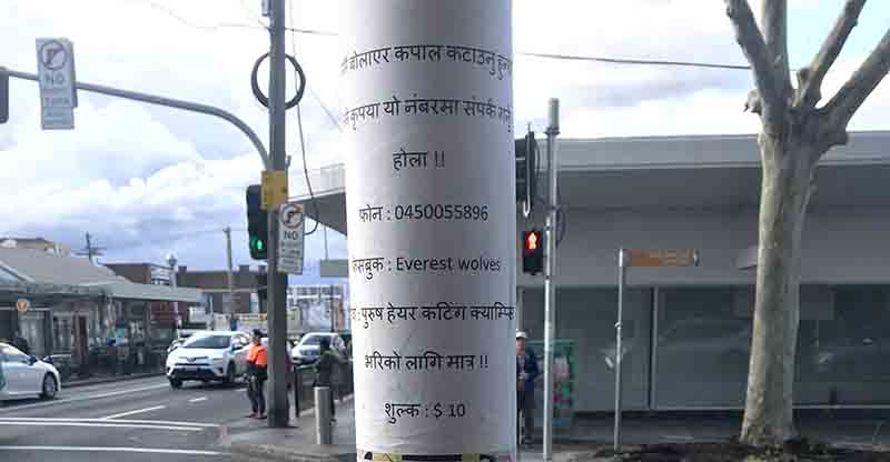 सिड्नीका पोलपोलमा नेपाली विज्ञापन - NepaliPage
